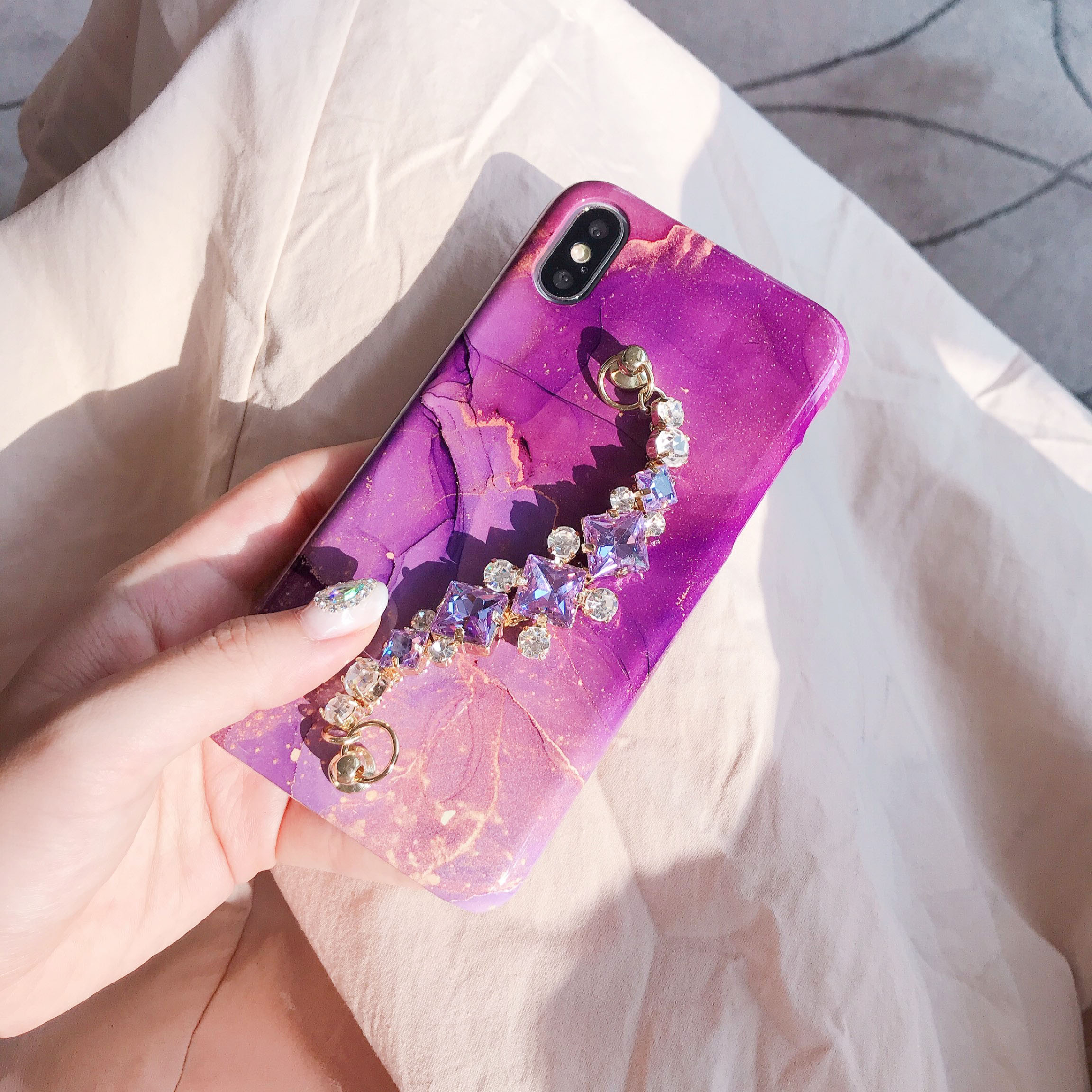 shining star chain phone case
