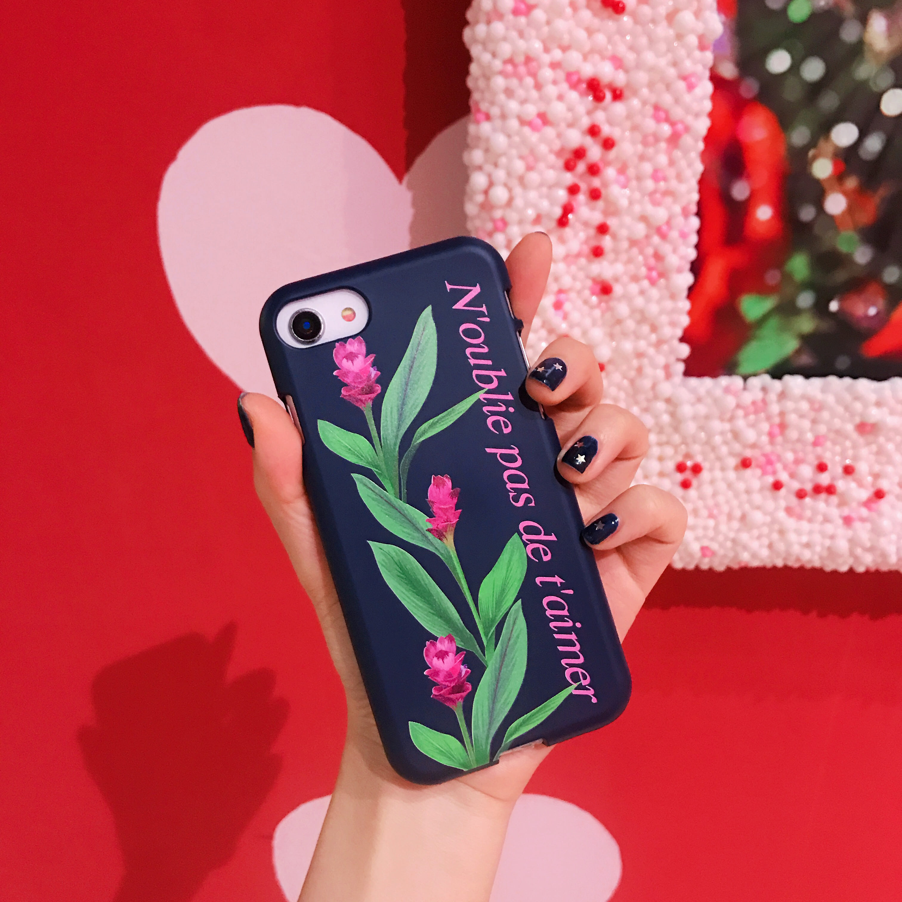 flower lettering (컬러 젤리) phone case