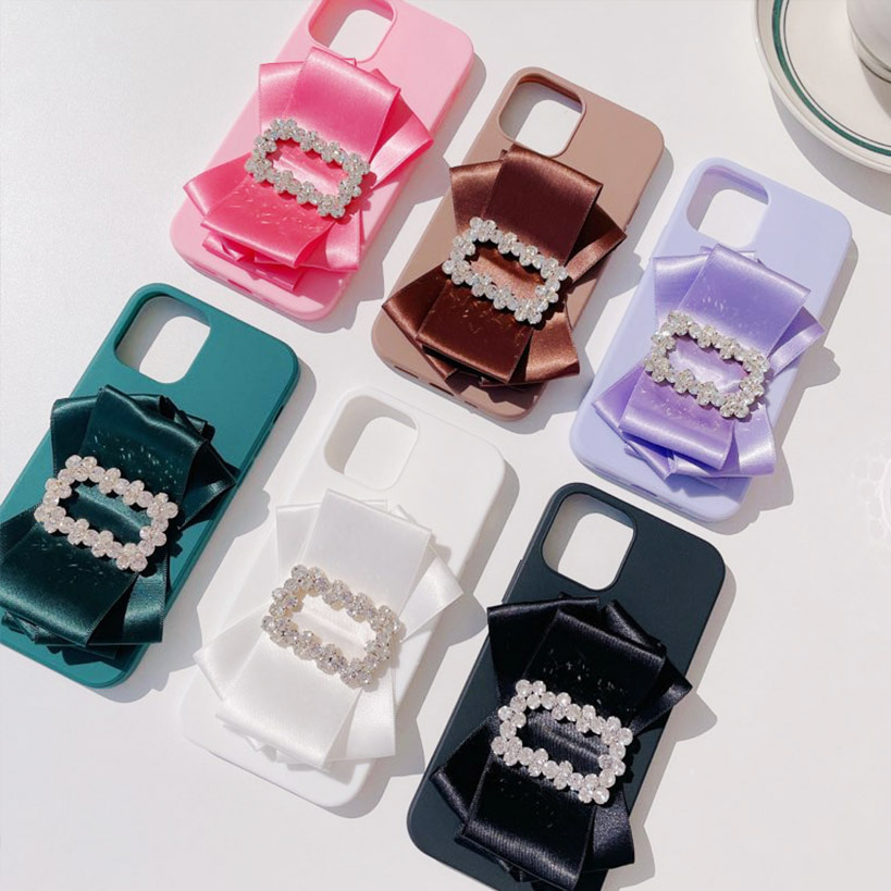 ruffle ribbon jelly phone case (6col)