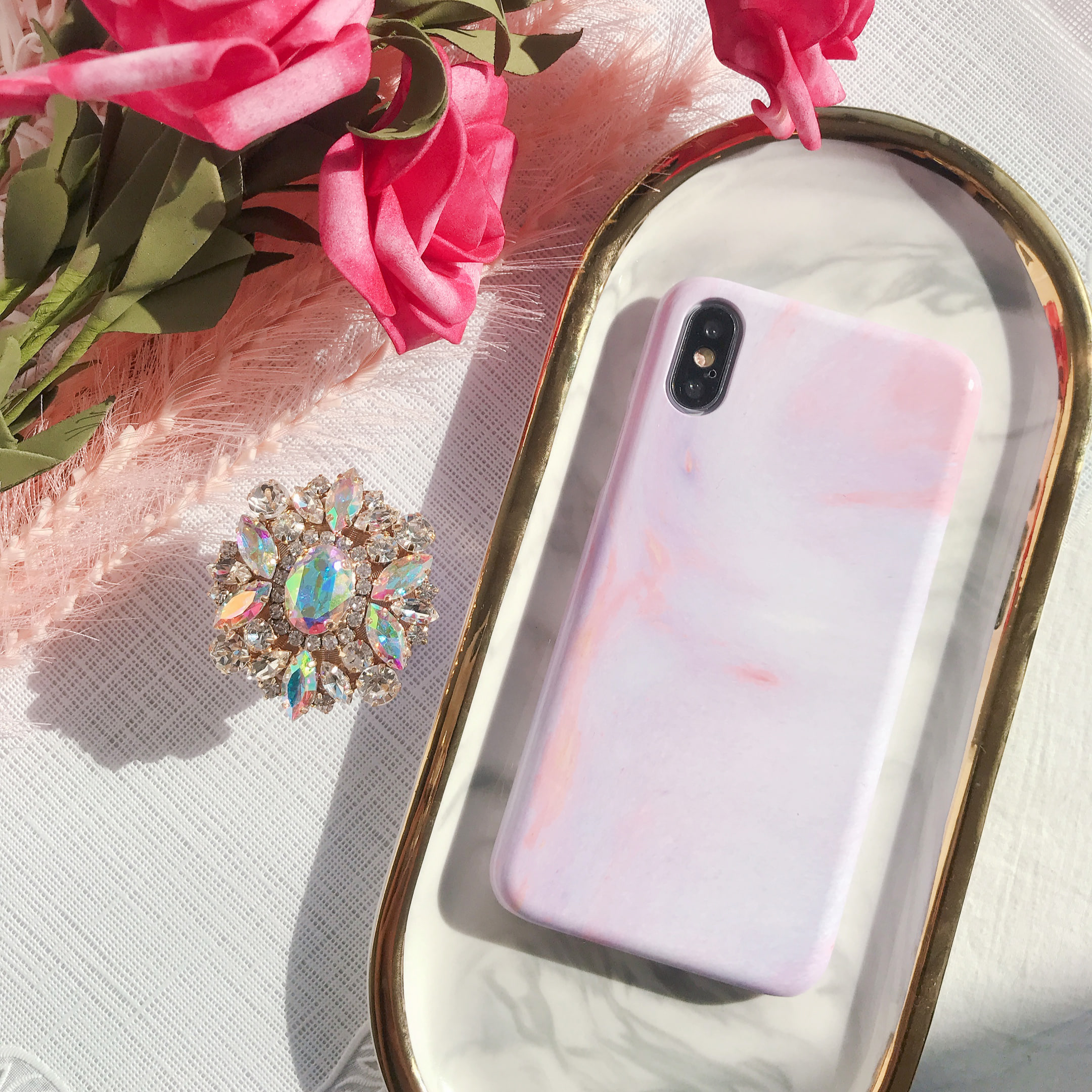lavender glow phone case