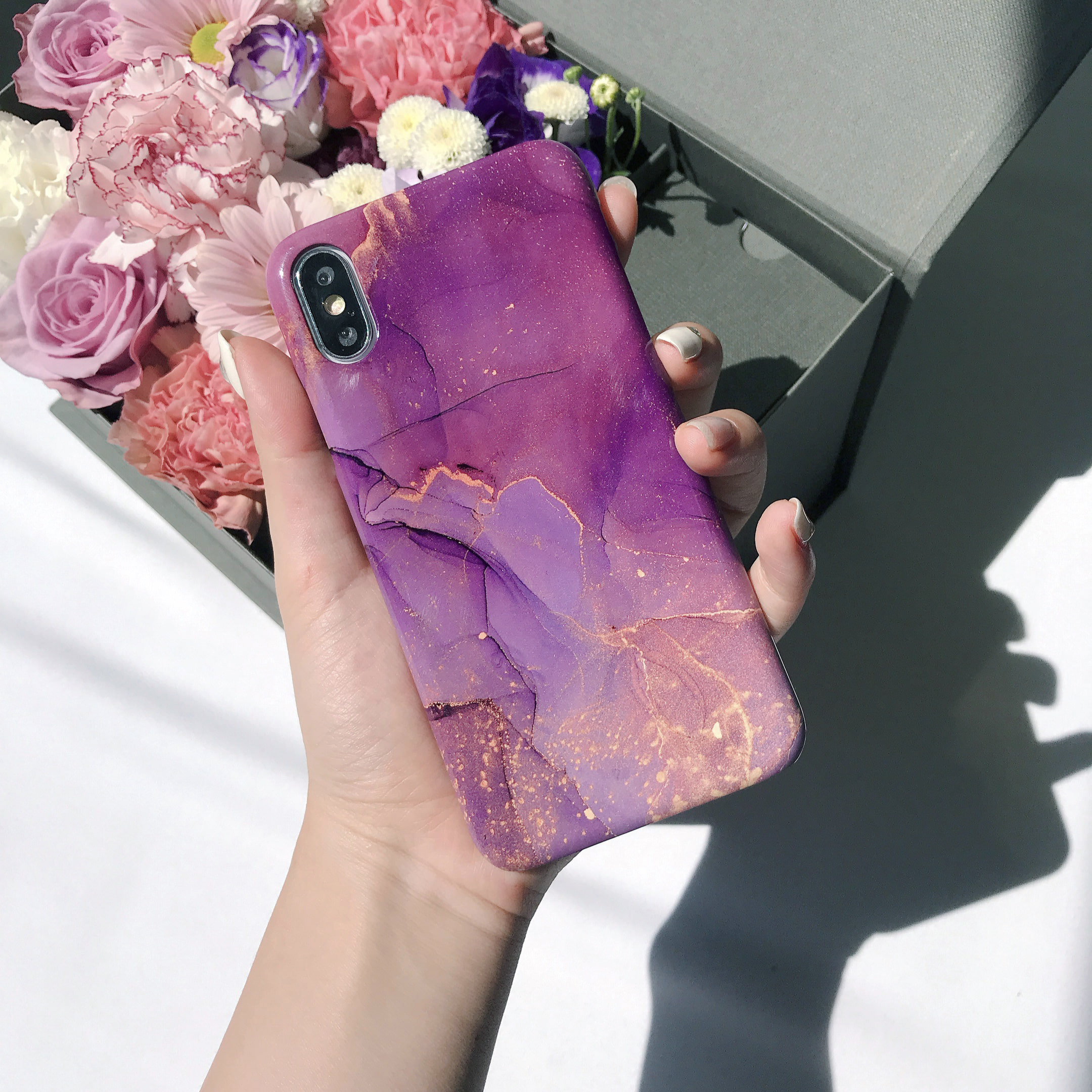 luminous marble phone case